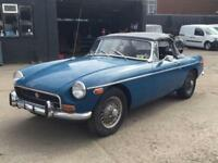 1972 MG MGB 1.8 ROADSTER CHROME BUMPER LHD. MOT TAX EXEMPT MODEL
