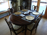 Gibbard Table and six chairs