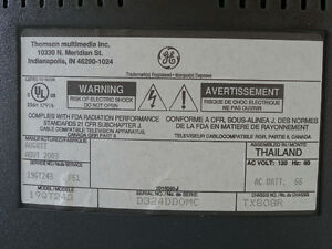"""REDUCED  19"""" GE TV with user's guide and remote Cornwall Ontario image 3"""