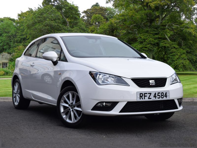 seat ibiza 1 4 16v toca sportcoupe 3dr white 2014 in county antrim gumtree. Black Bedroom Furniture Sets. Home Design Ideas