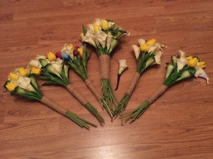For sale: Artificial wedding bouquets