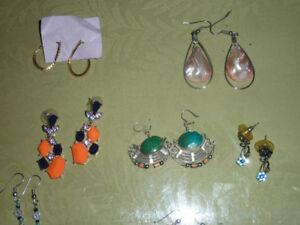 SPRING Costume Earring Lot - Some Gemstone items too!