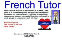 Experienced French Tutor