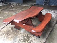 Solid Elm Large Picnic Table
