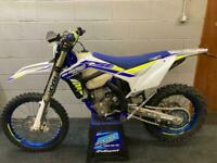 Sherco SEF 300 Factory Enduro 2019, new tyres and chain fitted @ Fast Eddy