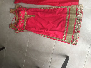 FULLY STITCHED CORAL LENGHA