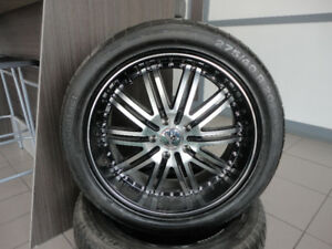 4x Continental SportContact 275/40/R20 106Y with Ruffino Mags