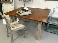 Restored and recycled vintage dining table