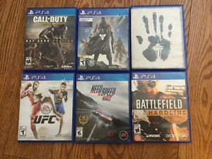 6 PS4 Games for Sale - including Call of Duty, Destiny and etc