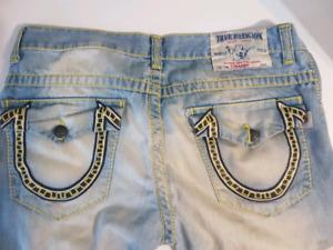 Authentiques Jeans TRUE RELIGION taille 34.