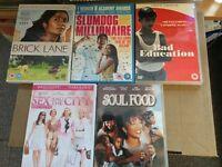 Joblot Bundle of 5 DVDs