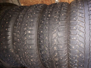 205 65R16 Uniroyal tigerpaw studded winter tires