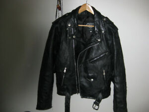 Men's or lady leather riding jacket