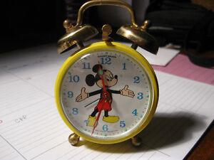 Vintage Mickey Mouse Alarm Clock