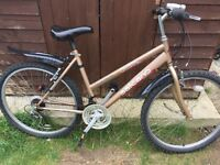 """Ladies 19"""" Crystal bicycle. New lights & mudguards. Free delivery. D lock available"""