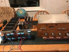 Vintage Hand Built Amplifier Electronics
