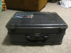 Plano Fishing tackle box and muskie lure
