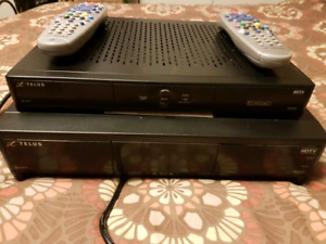 Telus Satellite boxes with remotes. PVR and HD