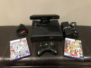 Xbox 360 Slim 250GB - with 1 controller and Kinect