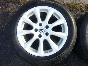 """Acura TSX OEM 17"""" Rims, TPMS,  and Michelin Pilot Tires Cambridge Kitchener Area image 5"""