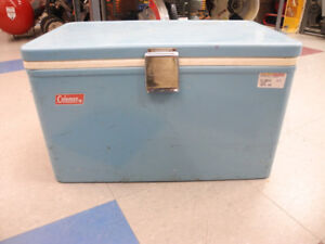 Vintage Coleman Metal Cooler Blue