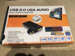 Brand New Sealed USB 2.0 UGA Audio Multi-Display Adapter