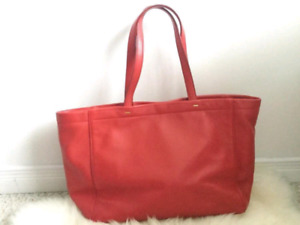 Marc by Marc Jacobs red soft leather tote bag