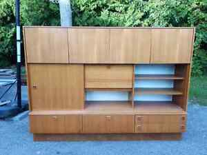 Vintage 3 piece teak wall unit