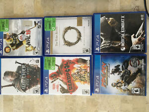 Ps4 barely used.  6 games 2 controllers