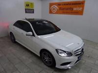 WHITE MERCEDES-BENZ E CLASS 2.1 E250 CDI AMG LINE PREMIUM PLUS *from £393p/m*