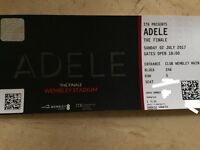 Adele LIVE 1X Ticket for her finale Sunday 2nd July Wembley