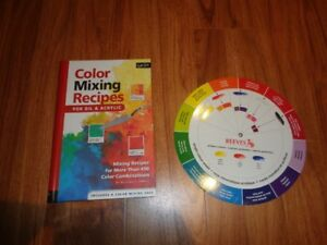 Color Mixing Recipes Book and color wheel
