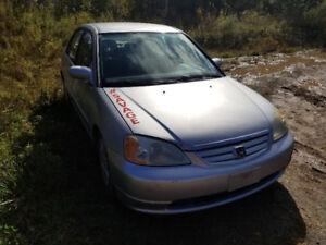2002 Honda Civic Sedan New Safety