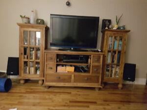 Unique TV stand and two bookcases