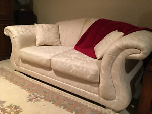 2 White Love Seats $100 with delivery