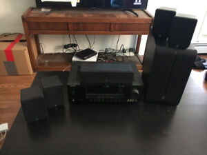Yamaha HiFi Stereo Receiver with surround sound speakers