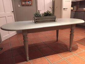 Beautiful shabby chic extendable wooden kitchen table