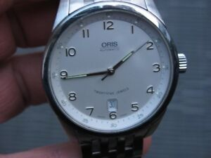 men's Oris automatic watch, stainless with org bracelet