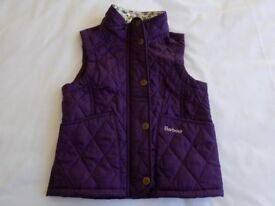 Girls's Barbour Gilet. Age 4/5. Hardly Worn
