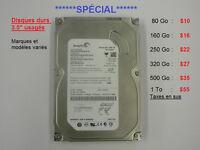 *Spécial desktop: Mémoire vive $2.50 et+, disques durs 10$ et +