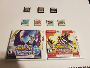 DS/3DS Pokemon game collection for sell