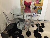 Dwell Glass table with matching chairs £200