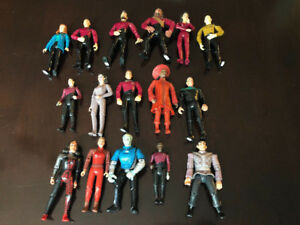 SIXTEEN STAR TREK ACTION FIGURES, KLINGON BIRD OF PREY