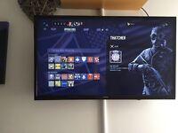 43inch tv with blue ray player smart to box