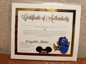 Dory VIP Pin With Certificate Of Authenticity