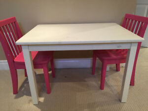 Kids table and chairs from pottery barn