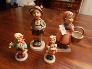 """Four """"Hummel"""" Figurines  - Two Boy & Girl pairs - 5"""" and 3.5"""""""