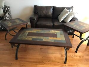 Ashley Furniture Coffee Table and 2 End Tables Set