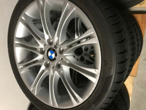 bmw m package rims 18''  WINTER SET