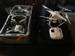 Phantom 4, with extra battery, landing gear,